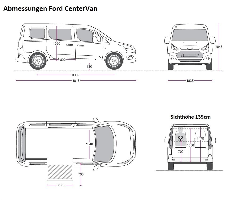 Abmessungen Ford CenterVan